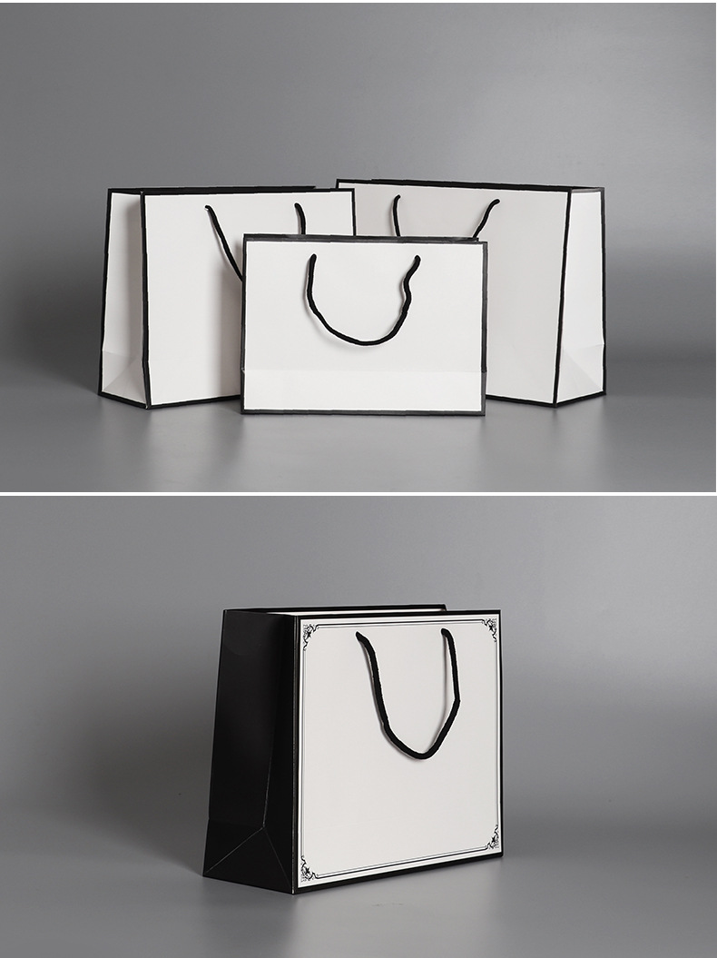 Logo Printed Customised Clothing Luxury Shopping Cosmetic Packaging Recycle Paper Bags