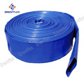 Flat blue sump pump slurry layflat pvc water delivery discharge hose
