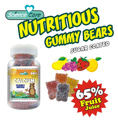DHA Algal oil Gelatin Gummy Bear Sugar Coated