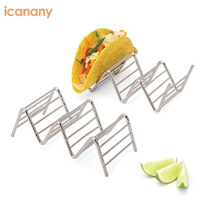 Wholesale Mexican Food Taco Rack Spain Food Stainless Steel Taco Holder Stand