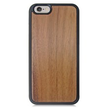 Wood sticker TPU wooden phone case natural walnut wood cover for iPhone 6