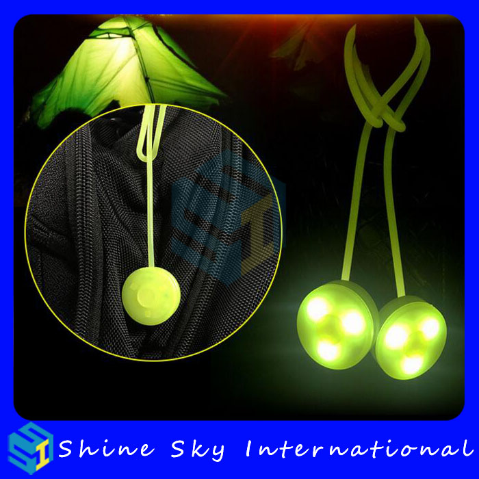 Manufacturer New Design Night Safety Led Bag Light with Strong Adhesive Light Bag Mult Colors
