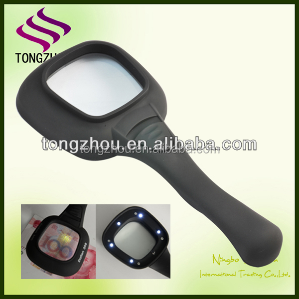 3X Light magnifying glass/hand magnifier loupe/LED magnifier