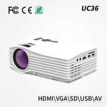 UC36 HD home theater led projector hd mini led projector 3d 1080p