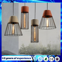 Country style decorative fixture vintage Grey Red 40w small hanging lamp Iron cement concrete Pendant lights