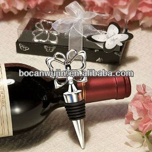 Butterfly Theme metal Wine Stopper Favors Wedding Bridal Shower Spring,red wine cap ,glass bottle vintage