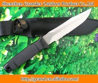 White Version ABS Handle camping knife outdoor knives 3832