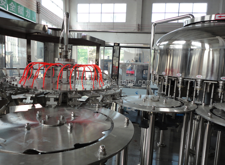 Food Grade automatic complete pet bottle pure mineral hot juice bottling machine
