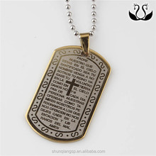 Christian gift fashion bible verses serenity prayer dog tag necklace