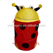 Foldable and fabric cartoon laundry dirty clothes bin for household