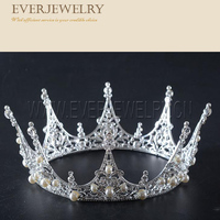 Hair Accessories Fashion Jewelry Yellow Crystal Crowns