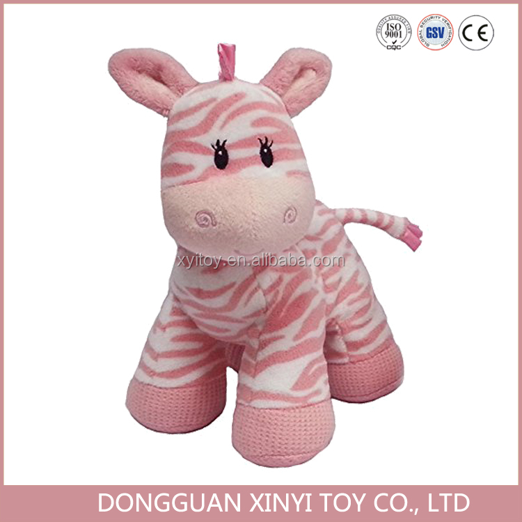 Nice design good quality soft animal toy stuffed zebra for baby
