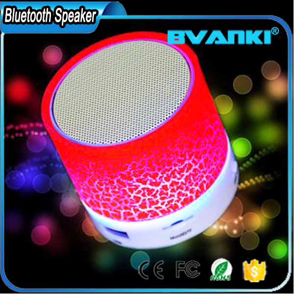 Multi Function Ultra Portable Stereo Sound Colorful Wireless Speaker With LED Light Micro-SD Card Slot