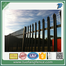 Top hot sale hot dipped galvanized and PVC powder coated second hand palisade fence for sale