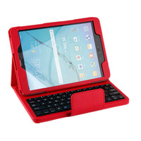 9.7 inch Tablet Folio Slim Detachable Wireless Blue Tooth Keyboard case For Samsung Galaxy s2 T810 T815C
