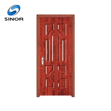 Factory directly expensive ventilated steel interior wood wholesale entry doors