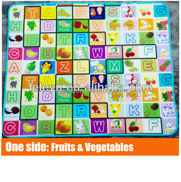Newest child mat babies toys and games double - sides printing EPE baby crowl kid cushion play floor mats