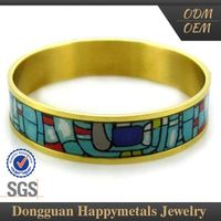 Latest Designs Custom Logo Dubai Fashion Gold Bangles Model Jewelry