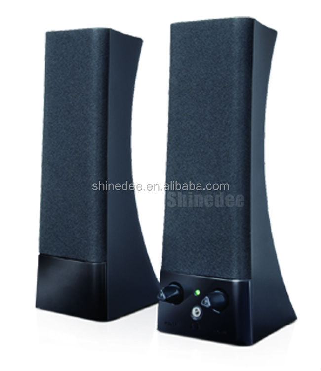 Pro audio home theater speaker system, 2.0 amplified audio system