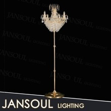 modern crystal fortuny floor standing tealight candle holder lamp