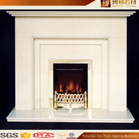 CNC design beautiful environmental indoor artificial stone fireplace mantel for low price