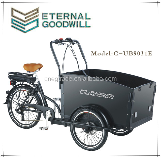 2015 new model three wheel electric Cargo Bike/Electric tricycle model 6 speeds UB9031E-6S