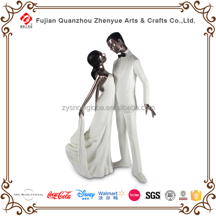 Wedding occasion resin loving couple dancing figurines