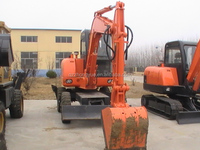 8 ton mini wheel excavator for trench digger