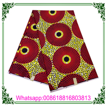 2017 african wax print fabric Ankara wax 6 Yards real wax print fabric for African Dressing