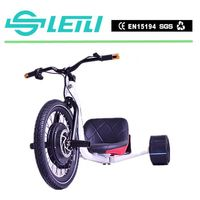 High PerformanceE Trike white motorized drift tricycle , electric tricycle for adults ,drifting cycle