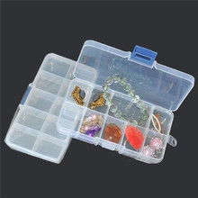 10 compartment organiser storage plastic box craft nail art beads pill container box