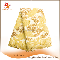 Best selling wholesale metallic high quality african dry lace African handcut voile lace lace swiss