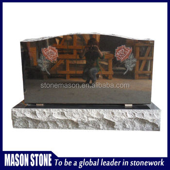 China granite mosaic flower monuments for tombstone