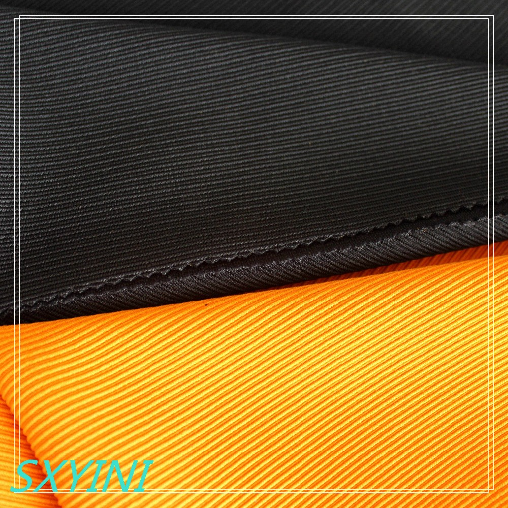 shaoxing YINI 97 polyester 3% spandex ottoman fabric for garment fabric,Polyester elastic fabric