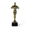 Custom gold Oscar metal plated trophy
