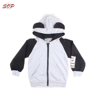 Fancy cotton kids hoodies girls children casual clothes