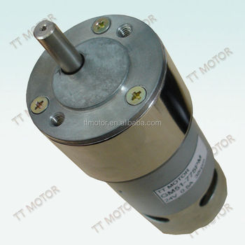51*110mm 24v dc motor with reduction gear