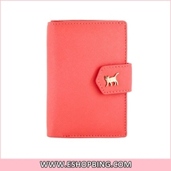Stylish Faux Leather Foldable Wallet Design Protective Case for iphone 4S Red
