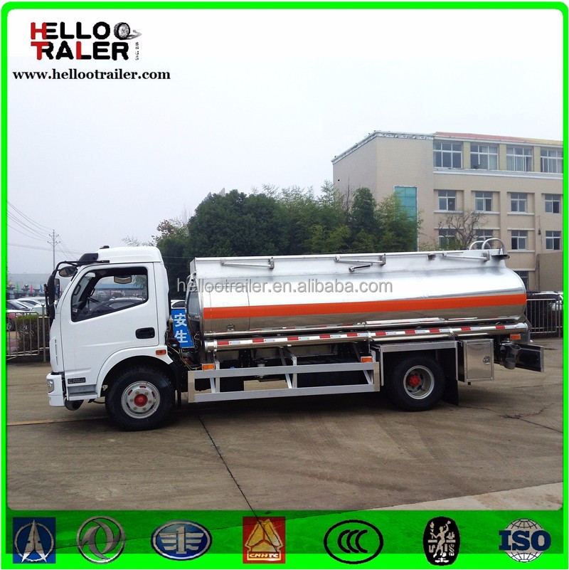 DFAC best engine 4x2 8000L oil tank truck dimension 7000x2300x3100mm