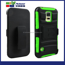 Wholesale Free Sample Hybrid Heavy Duty Hard Case Belt Clip Holster cover for samsung galaxy S5 Factory Price