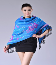 Fashionable Cashmere Flower Square Scarf
