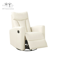 Modern manual recliner comfort chair adjustable white leather recliner sofa