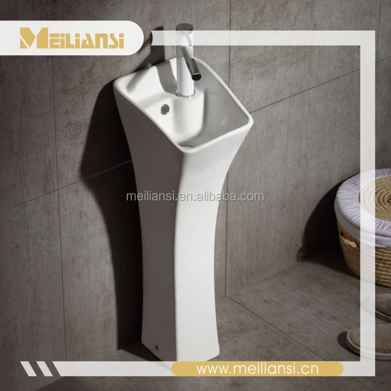 Cheap price bathroom ceramic pedestal basin wash kenya sink pipe stainless steel sink