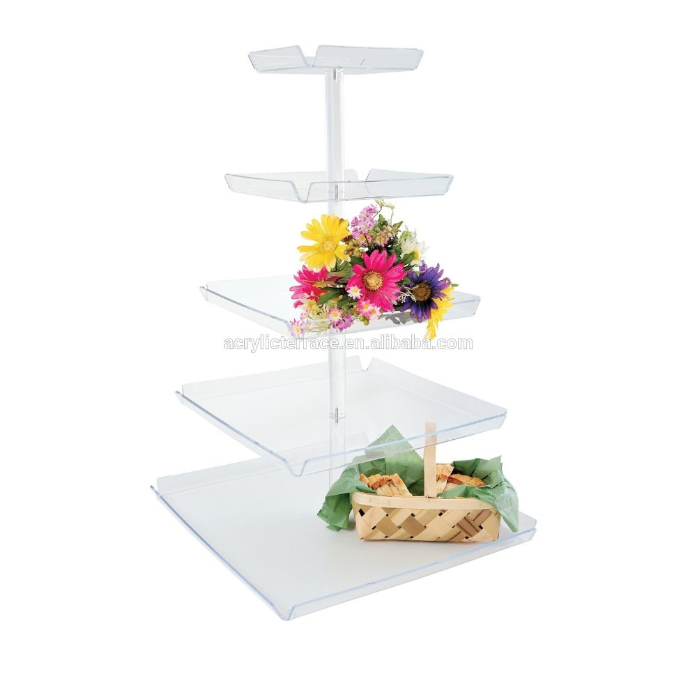 2014 New Christmas Food Tray Tiered Acrylic Food Display Tower cp140604024