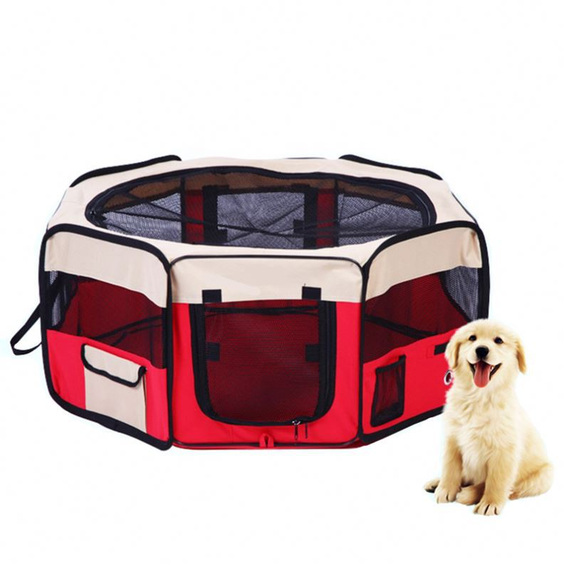 Portable Folding Steel Bar Cat Dog Cage Crate