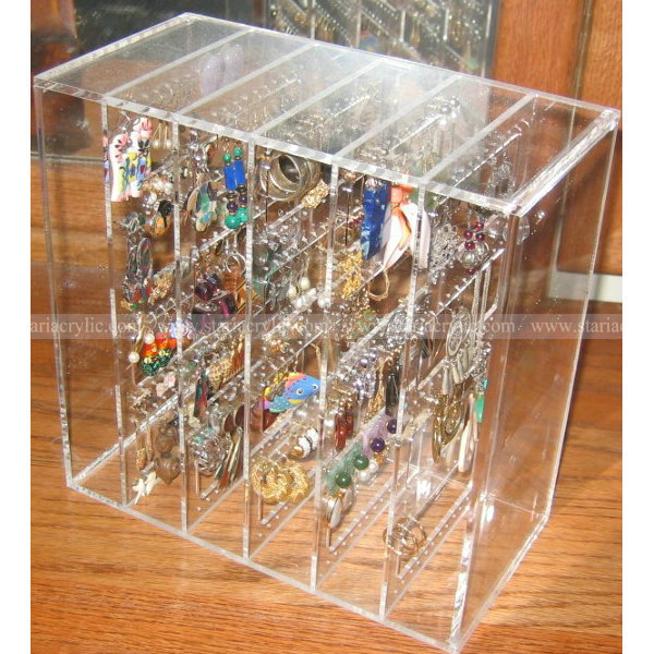 Stackable Acrylic Earring Organizer, Acrylic Earring Display Boxes, Lucite Earring Display Case