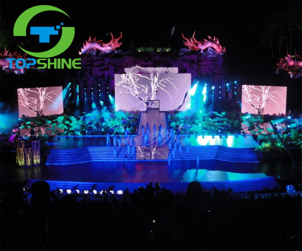 Outdoor usage and 8mm pixels stage background smd P8 led screen display, led module