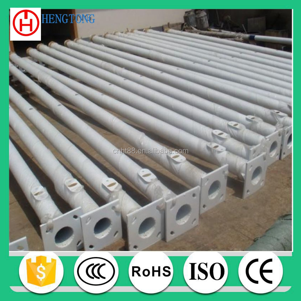 hot dip galvanized tapered power used metal poles for street lighting 6m