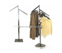 Cromo plateado <span class=keywords><strong>de</strong></span> alta calidad <span class=keywords><strong>de</strong></span> trapillo RH-YJ01 display racks clothes display rack soporte