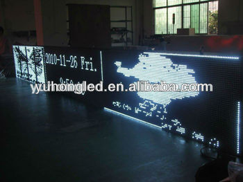 48x384 Pixels P10 ultra bright White Color Outdoor led scrolling signs